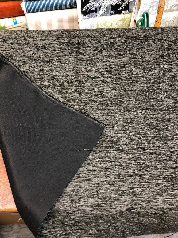 Charcoal Fabric Chenille upholstery Fabric by the yard
