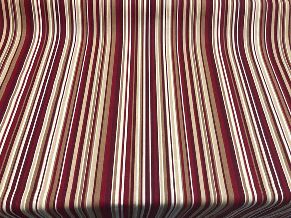 Home Essentials Decor Fabric 45'' Glee Red Stripes by the yard