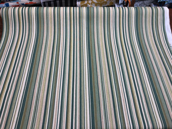 Home Essentials Decor Fabric 45'' Glee Patina Green Stripes by the yard