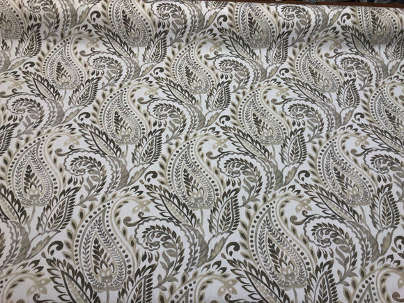 Fcalgura Paisley Floral Linen color 45 '' Fabric By the Yard