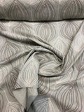 Meridian Pewter Rope Embroidered Fabric By The Yard