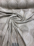 Meridian Natural Rope Embroidered Fabric By The Yard