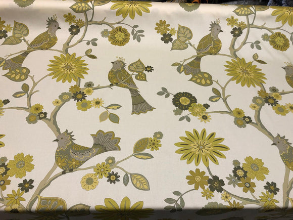 Richloom Soprano Cotton Drapery Yellow Fabric By the yard