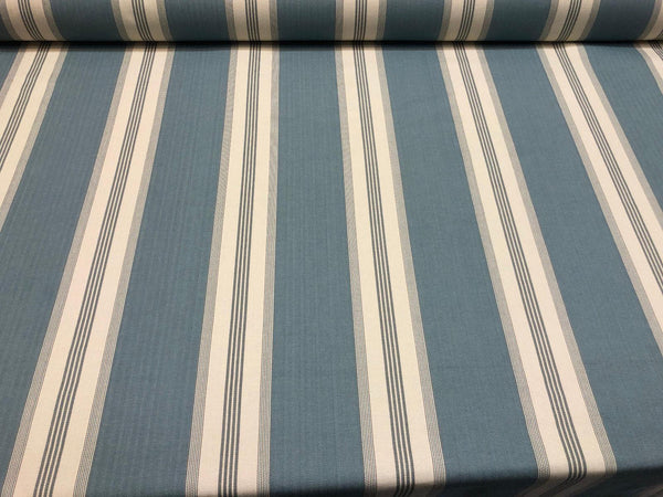 Stonewall Wedgewood Blue French Stripes Cotton Fabric by the yard