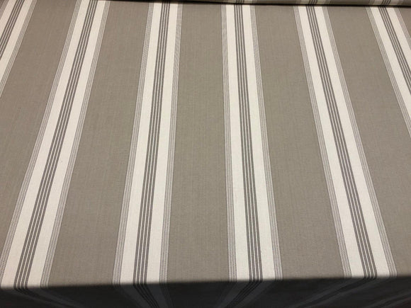 Stonewall Putty French Stripes Cotton Fabric by the yard