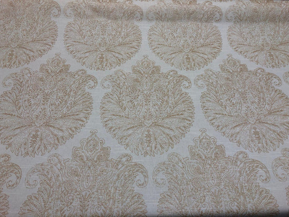 Home Accent Floral Damask Vashti Champagne Chintz Fabric By The Yard