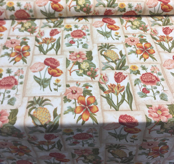 Waverly Botanic Garden In Botanical Mount Vernon Multipurpose Fabric by the yard