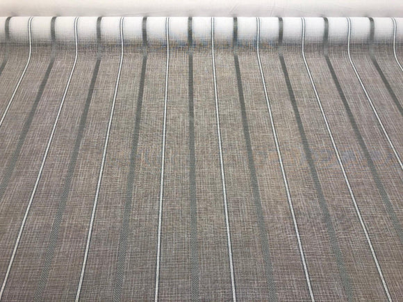 P Kaufmann NFP IZNIK STRIPE 118'' Glacier White Linen Look sheer fabric by the yard
