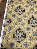 Sanaya Elephants Maize Swavelle Mill Creek Drapery Upholstery Fabric By The Yard