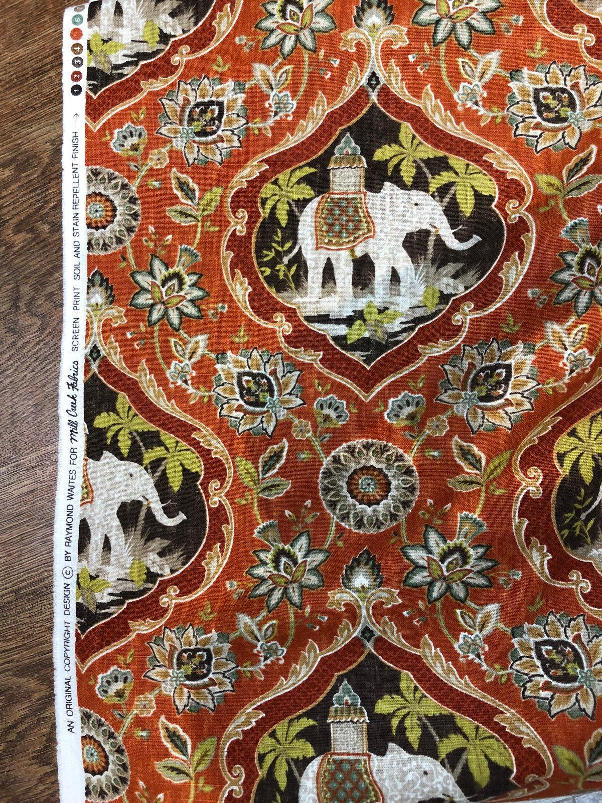Sanaya Elephants Paprika Swavelle Mill Creek Upholstery Fabric By