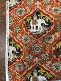 Sanaya Elephants Paprika Swavelle Mill Creek Upholstery Fabric By The Yard