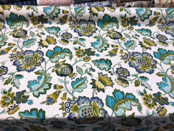 Anu Cliffside Linen Rayon Mill Creek Swavelle Jacobean Floral Fabric By The Yard