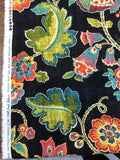 Anu Fiesta Black Linen Rayon Mill Creek Swavelle Jacobean Fabric By The Yard