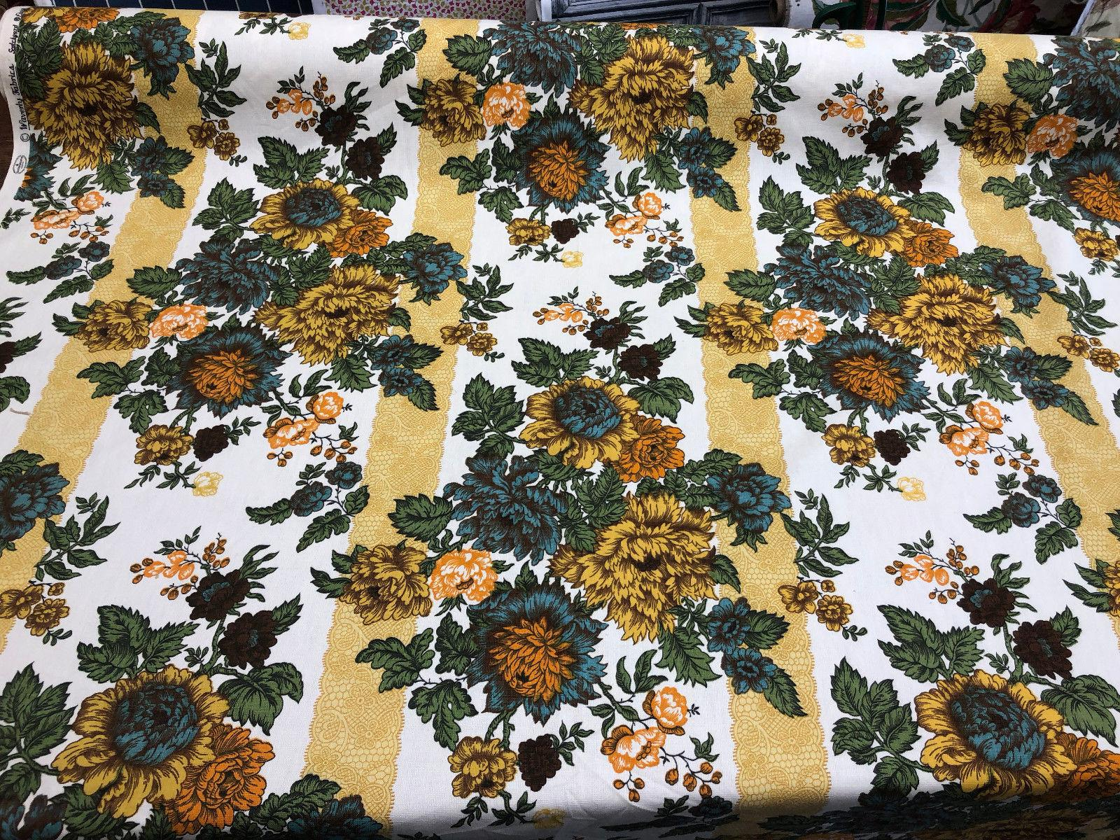 Vintage Floral Fabric - The Villa on Mount Pleasant |Vintage Floral Fabric