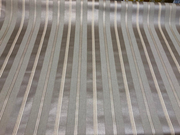 P/Kaufmann Beam of Light Chintz Silver Stripes Fabric by the yard
