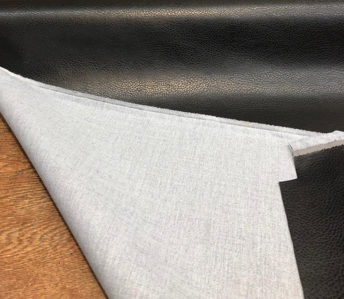Rodeo Black Textured Vinyl Upholstery Fabric With Backing By The