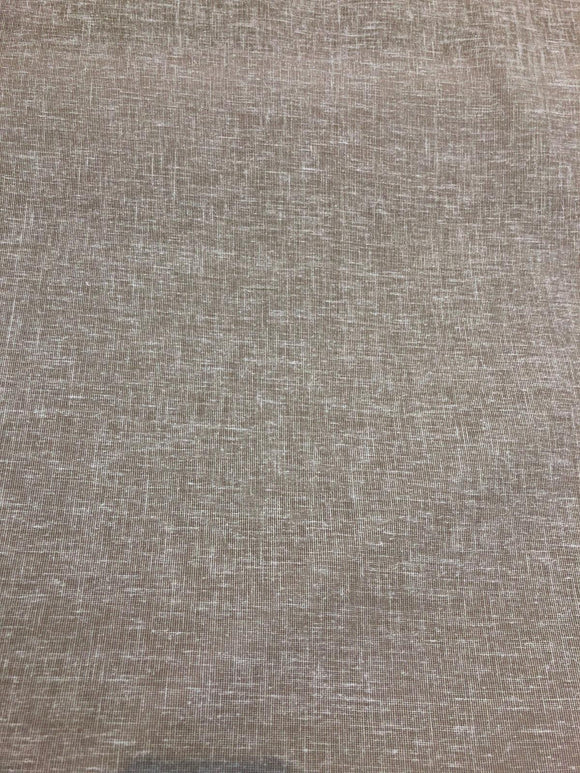 Sabra Stone 55'' Linen Look Sheer Fabric By the yard