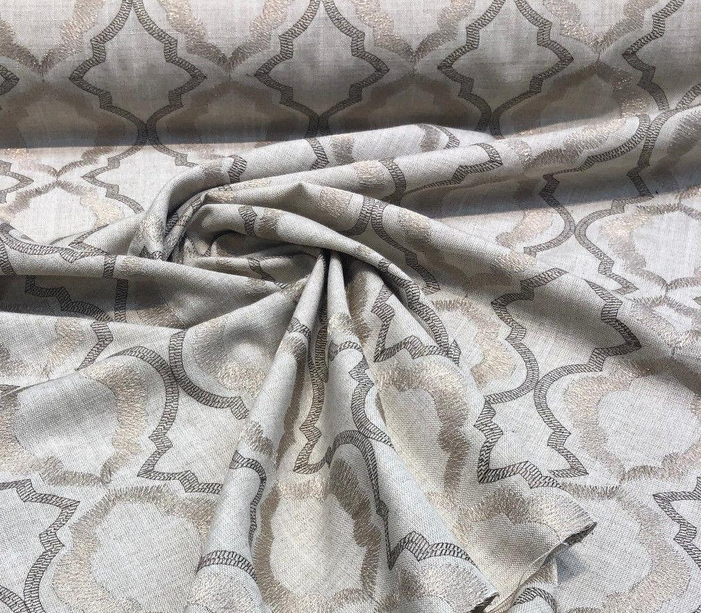 Barriester Natural Excellent for Drapery Fabric by the yard Lurex yarn