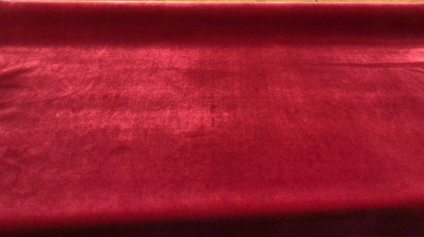 Linden Red velvet fabric
