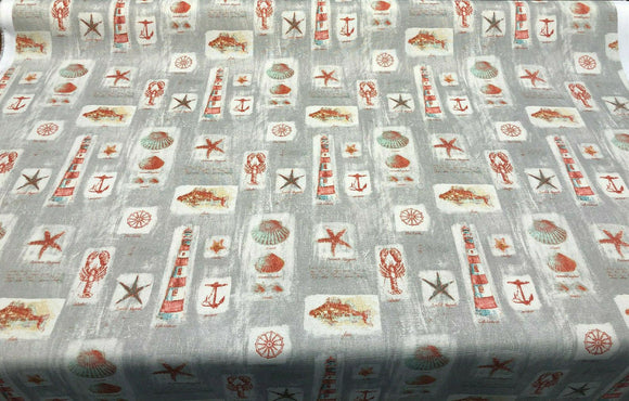 Waverly Sun N Shade Beach Comber Gray Sandcastle Fabric By the yard