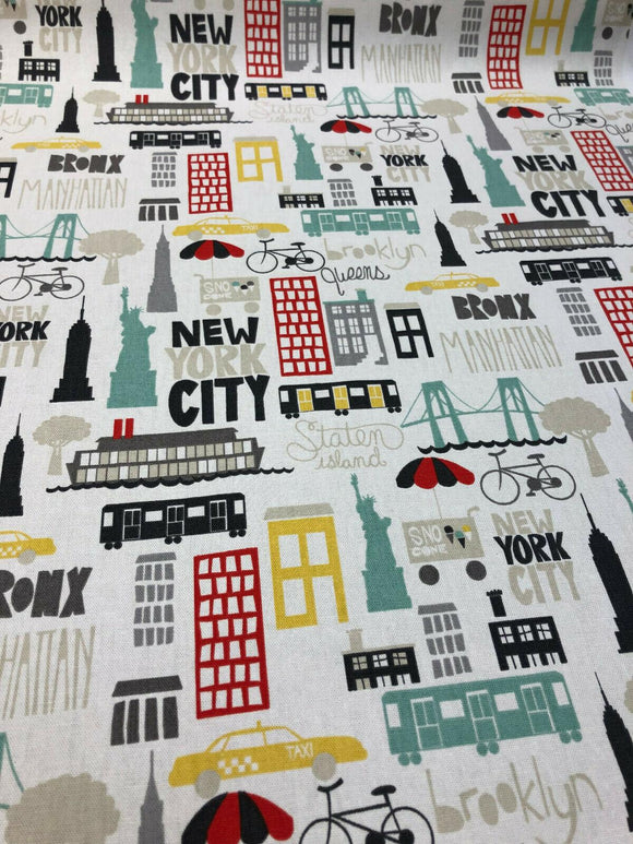 P Kaufmann East Coast City New York Brights Fabric by the Yard