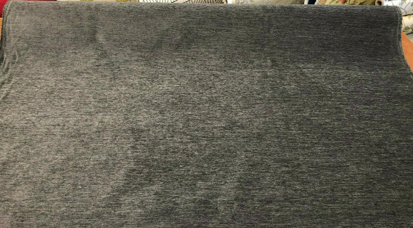 Barcelona Charcoal Soft Chenille Upholstery Fabric By The Yard