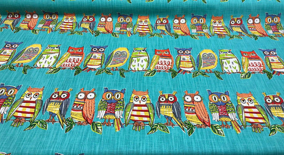 Richloom R Gallery Hoot Owl Opal Fabric By the yard