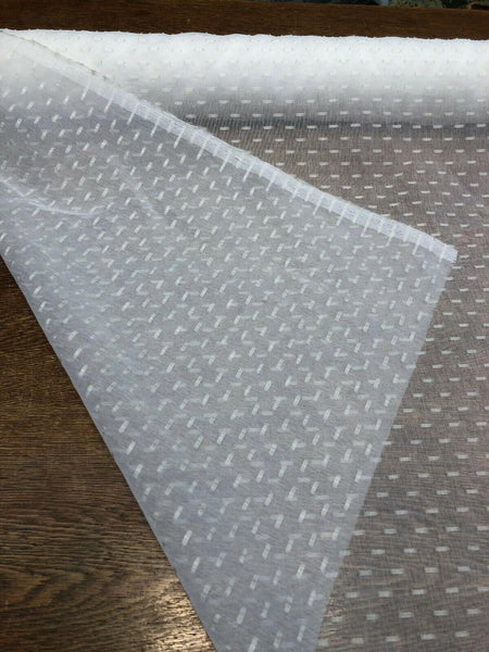 P Kaufmann NFP Bellamy Snow 60'' White Sheer fabric by the yard