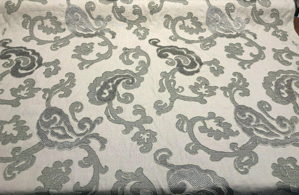Fabricut Victoria Stingray Embroidered Linen Fabric by the yard