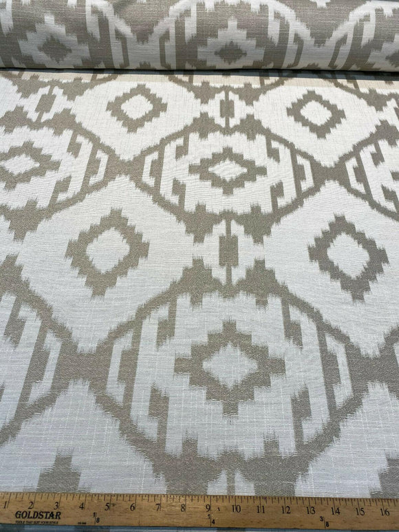 Baylis Aztec Taupe Jacquard Designer Fabric By The Yard