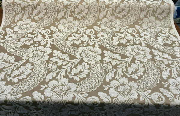 Florance Soft Gold Chenille Italian Cut Upholstery Fabric by the yard