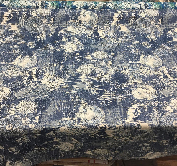 Fezara Indigo  100% cotton Drapery upholstery Fabric  by Robert Allen