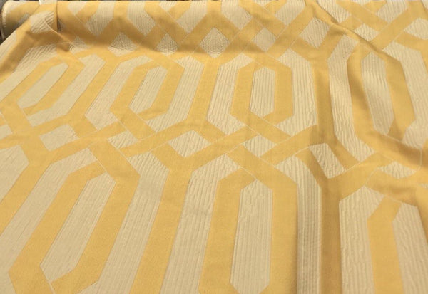 P KAUFMANN INTERWINED YELLOW GOLD  FABRIC BY THE YARD