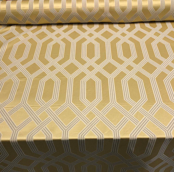 P/Kaufmann Theorem Sunglow Gold latticework Fabric by the yard 57''