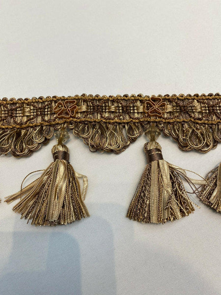 Delta Tassel Fringe Taupe By The Yard for Draperies