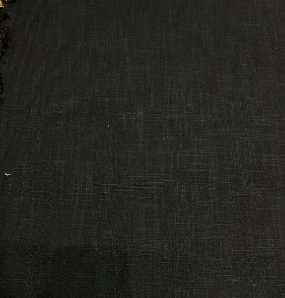 PK Faux Linen Derby Solid Onyx Black Fabric by the yard