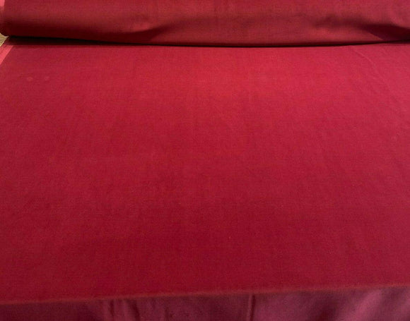 Charisma Velvet Velour Claret Red IFR 25 oz Drapery Fabric by the yard
