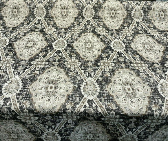 P Kaufmann Carpet Heirloom Onyx Black Jacquard Fabric By The Yard