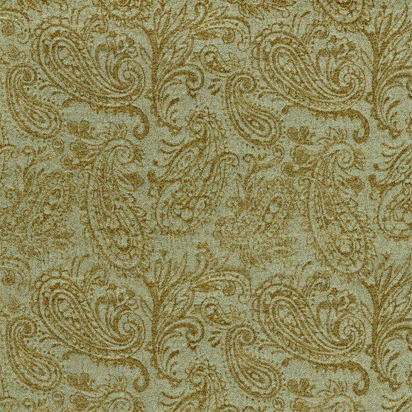 Upholstery Chenille Covington Kelso Brass Paisley Fabric By The Yard