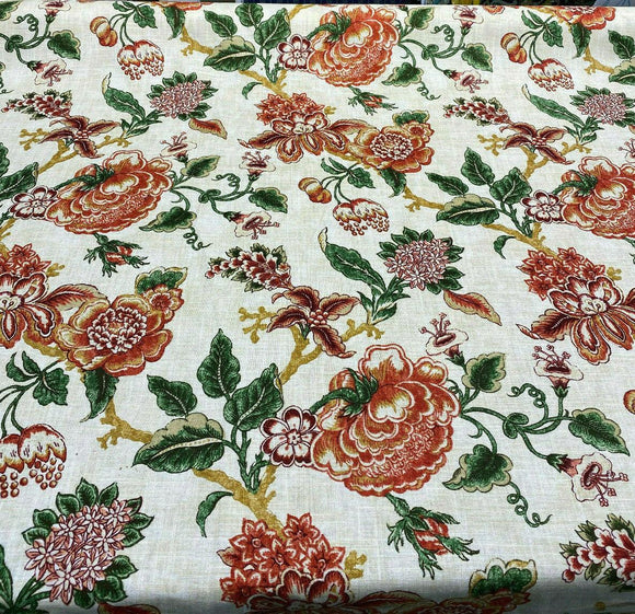 Waverly Williamsburg Persiana Cinnamon Fabric By the Yard