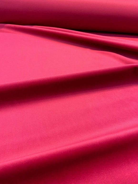Exclusive Velveteen Fuchsia Pink Drapery Upholstery Fabric by the yard
