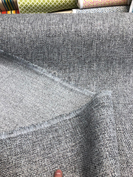 Callamezzo Steel Chenille Shabby Chic Basketweave Upholstery fabric by the yard
