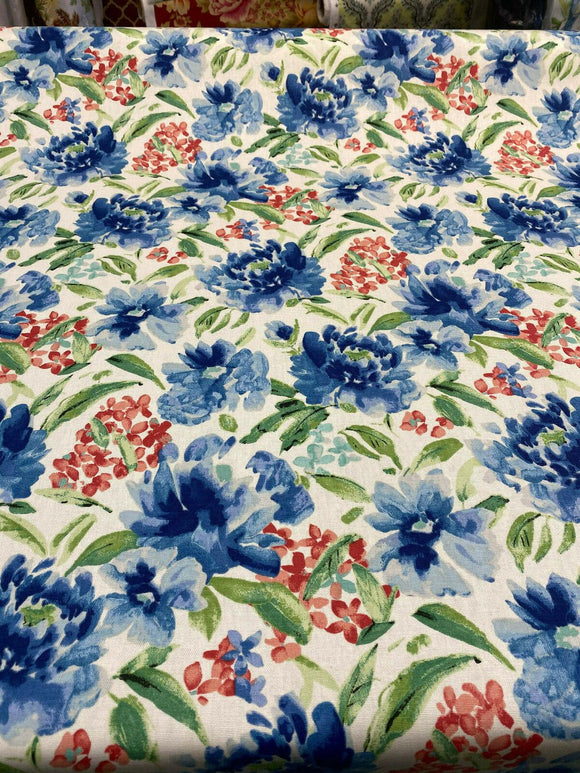 Waverly Upholstery Fabric 54'' Spring Forth Bluebell By the Yard
