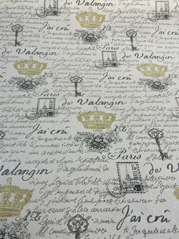 Waverly Paris NoteBook Clay Fabric by the yard