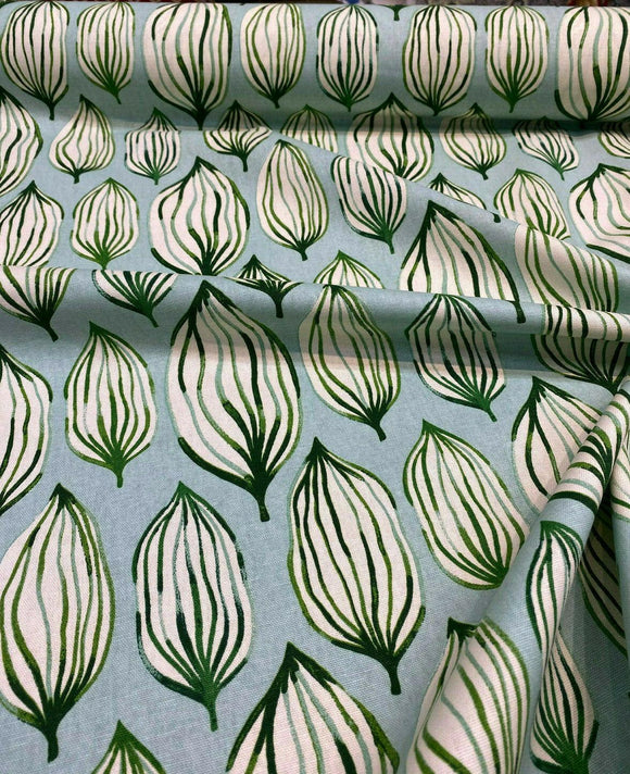 Waverly Tropical Leaf Verte Green Blue Fabric By the Yard