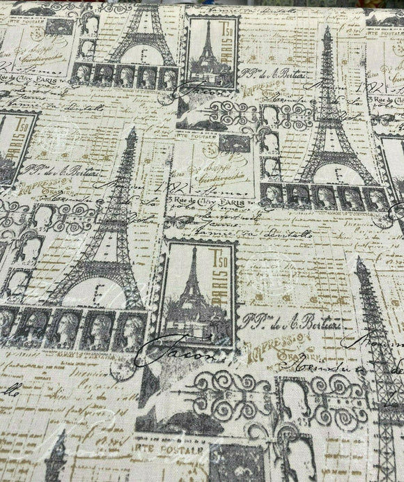 PK Lifestyles Amour Putty Paris Tower Fabric By the Yard