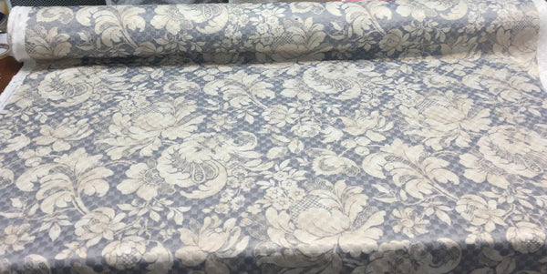 PK Waverly Distinctly Damask Shale Multipurpose Quilted Fabric by the yard