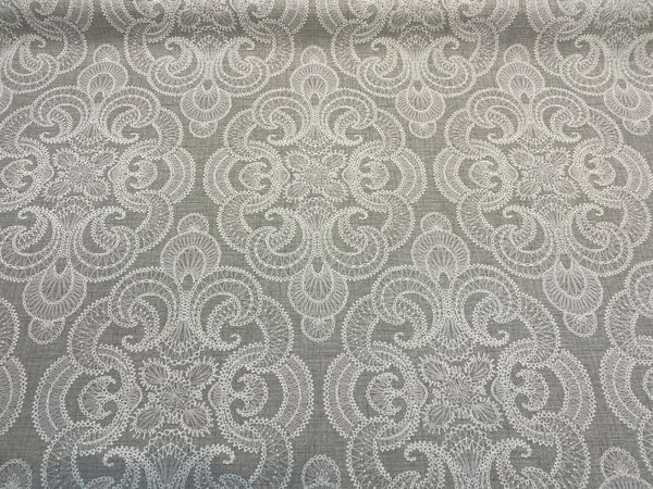 Waverly Northern Lights Pebble Gray White Fabric By The Yard