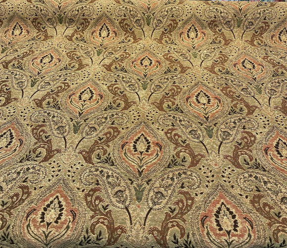PK Madison Chutney Heavy Damask Chenille Fabric By The Yard