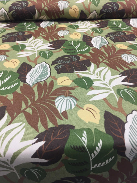 Bryant Everglades Basil green Floral  fabric Indoor Outdoor Fabric By the yard